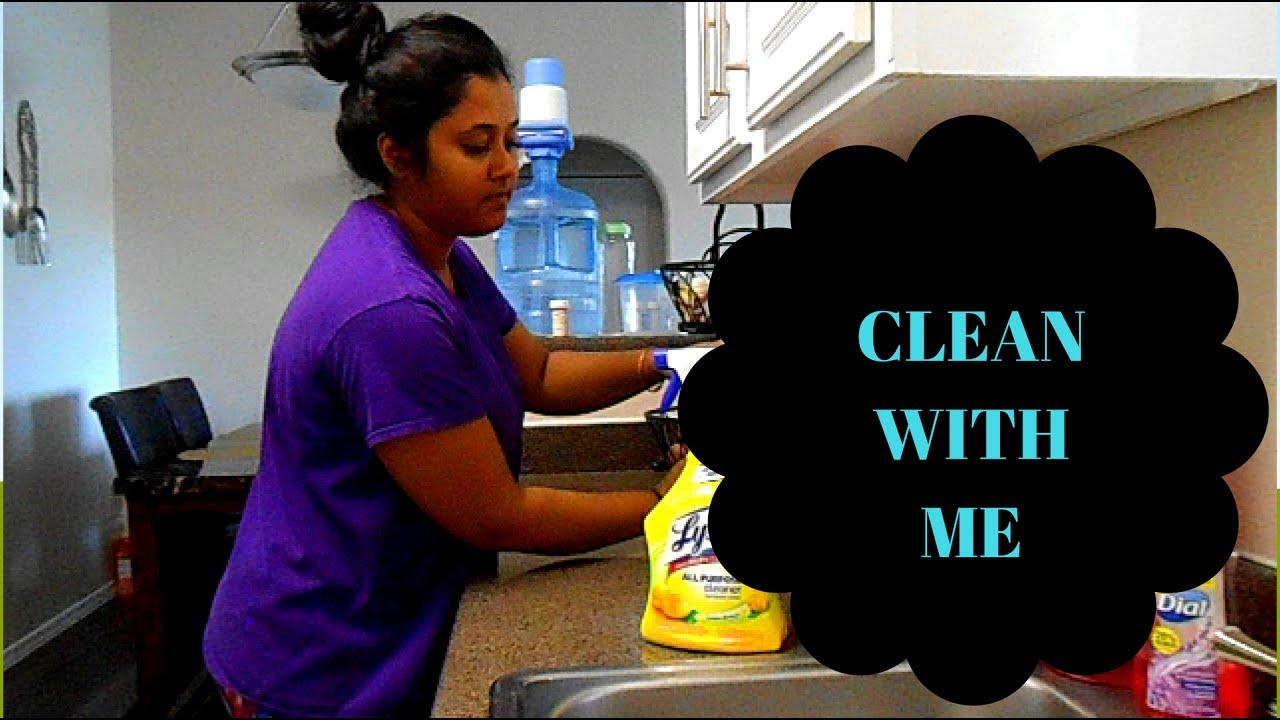 CLEANING VIDEO!! CLEAN MY APARTMENT WITH ME. - YouTube