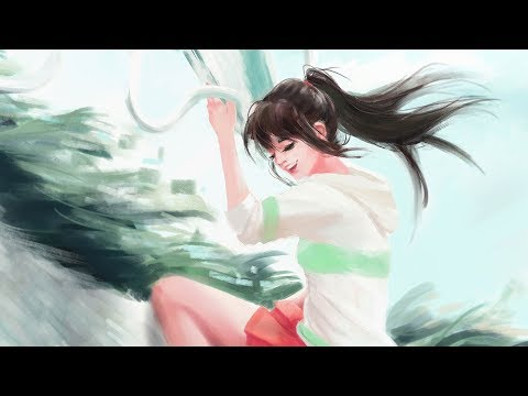digital painting process | spirited away commission 🐉
