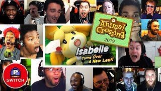 Live Reaction: Isabelle in Smash + Animal Crossing for Nintendo Switch | Synched Compilation