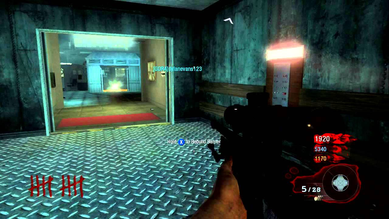 Cod Black Ops 1 Zombies Level 1 14 Gameplay Five Walkthrough In