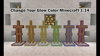 Change Your Glow Color Minecraft 1.14 NO MODS