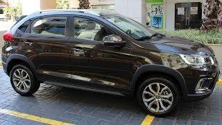 Tiggo 2 Automático ACT (marron metálico): detalhes internos e externos - www.car.blog.br