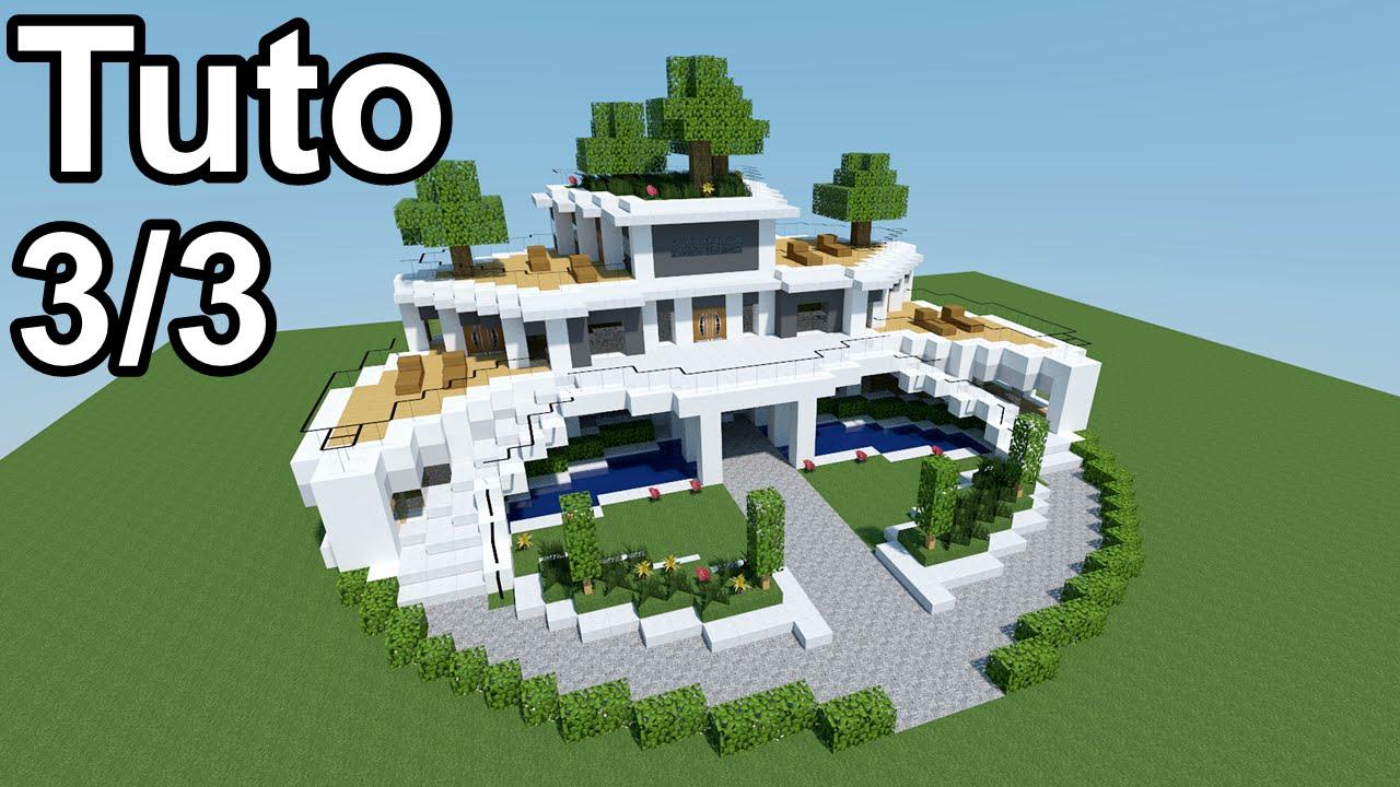 Minecraft tutoriel - Maison moderne ! 3/3 - YouTube