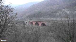 GIOVI - linea lenta - transiti al ponte di mereta sotto la prima neve
