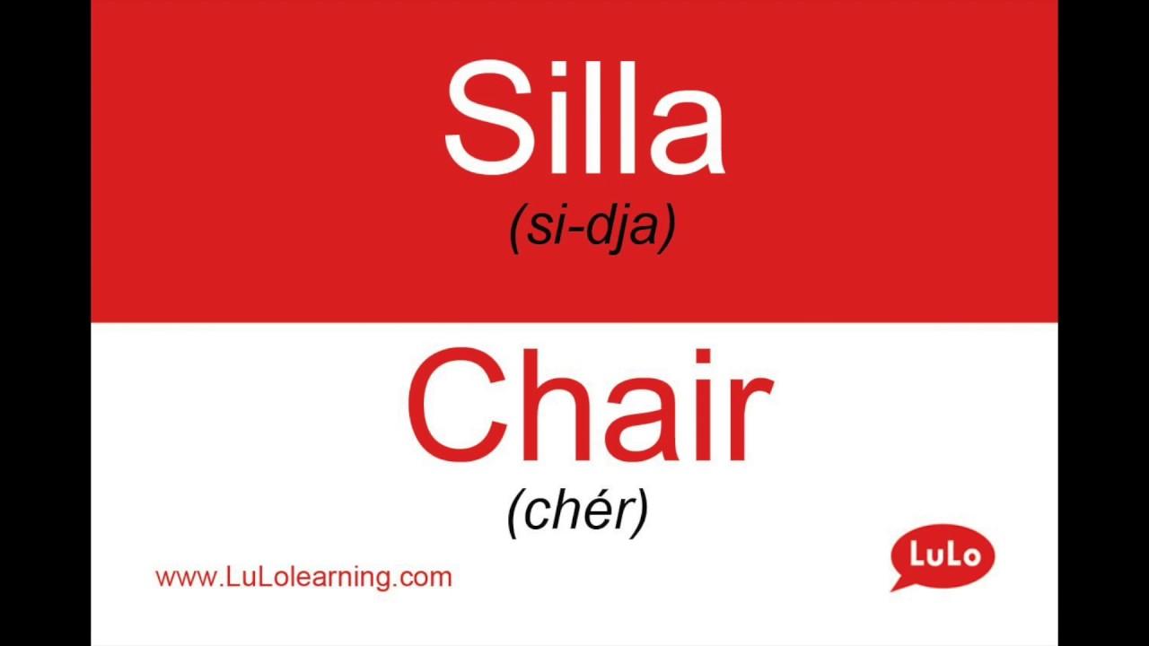 Silla En Ingles Para Colorear