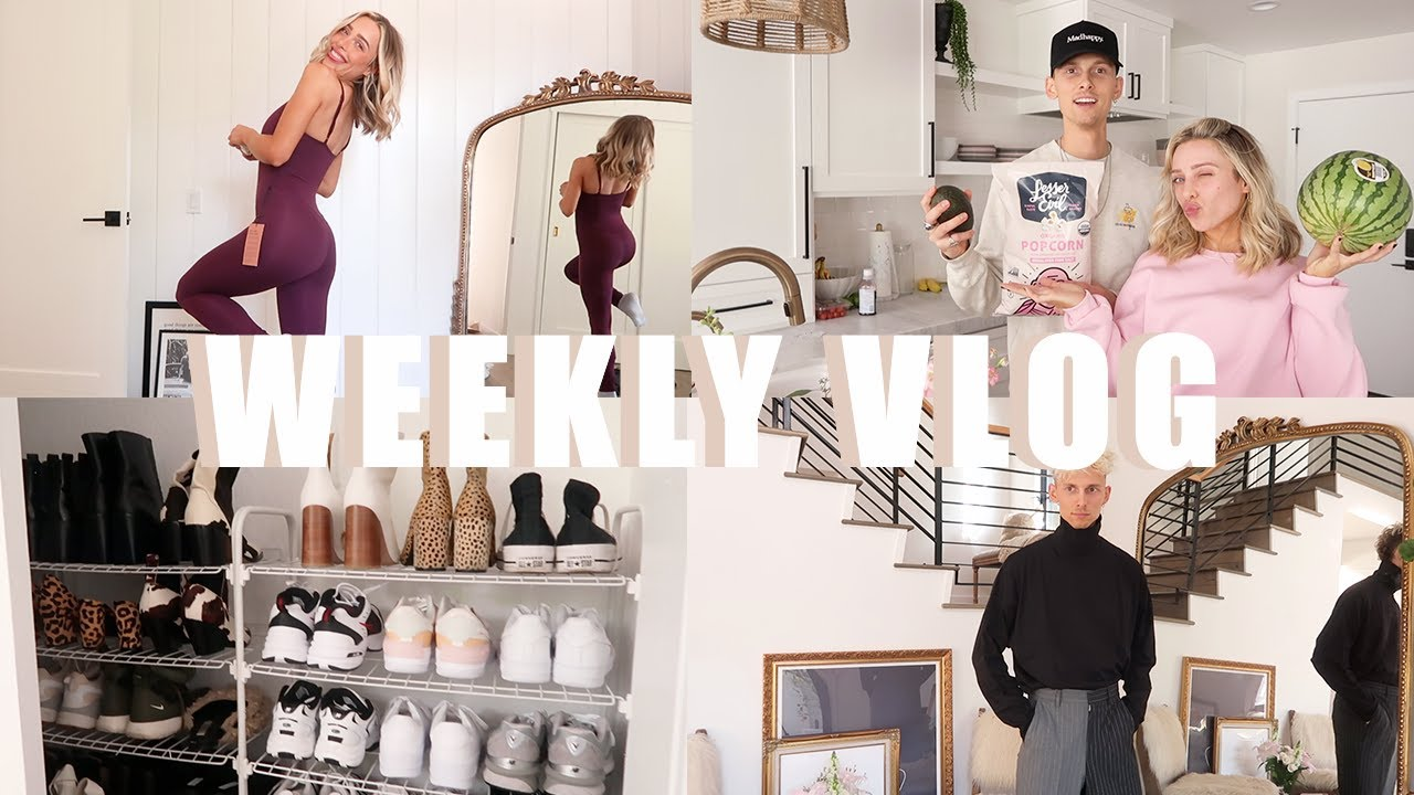 WEEKLY VLOG: GROCERY SHOPPING, UNPACKING + ORGANIZING, ACTIVE WEAR HAUL, MENS ASOS HAUL