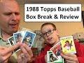 1988 Topps Baseball Trading Cards - Box Break & Review