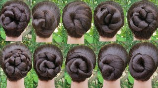 12 tricky hairstyle with using 1 rubbar band || very easy hairstyle || bun hairstyle ||