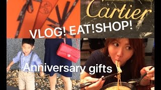 vlog blueberry picking eating and shopping trip cartier hermes and more