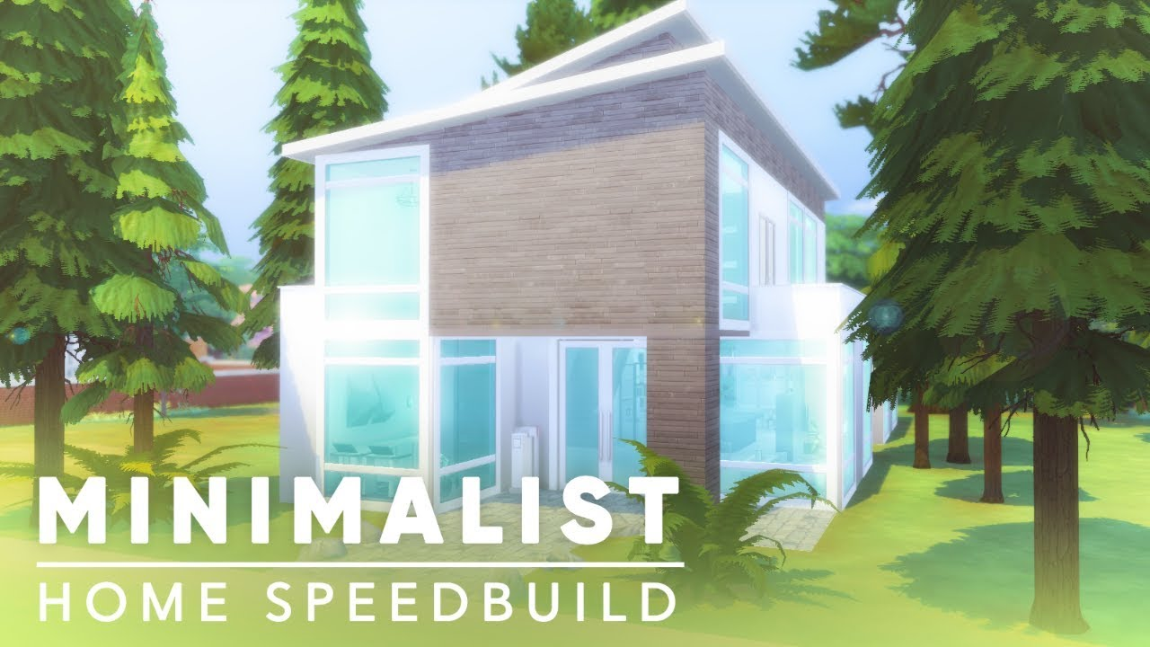 Minimalist Modern Pancakes House Speed Build Sims 4 No Cc
