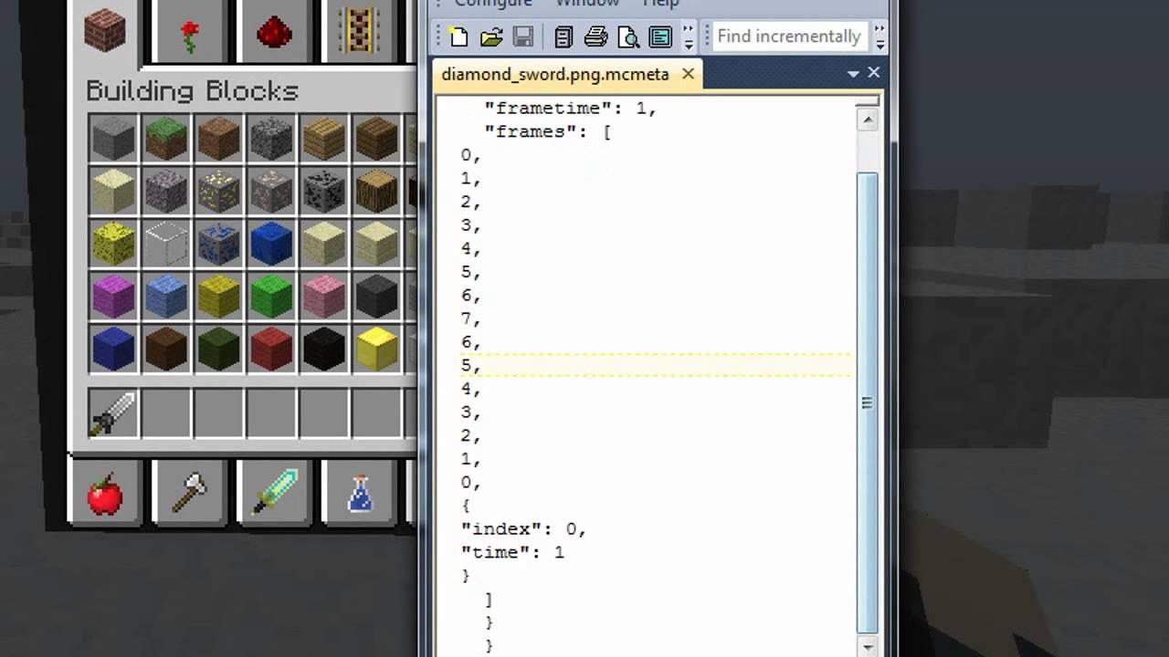 How To Animate Item/Block Textures [MINECRAFT 1.6.2] - YouTube