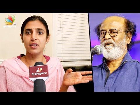 Kasthuri explains her tweet on Rajinikanth
