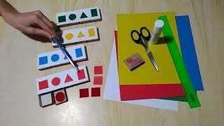 Обзор игры 'Цвета и формы'. Для детей от 1 года. Делается легко и быстро