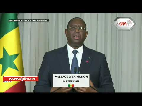 Direct - Discours de Macky Sall, Président de la République du Sénégal