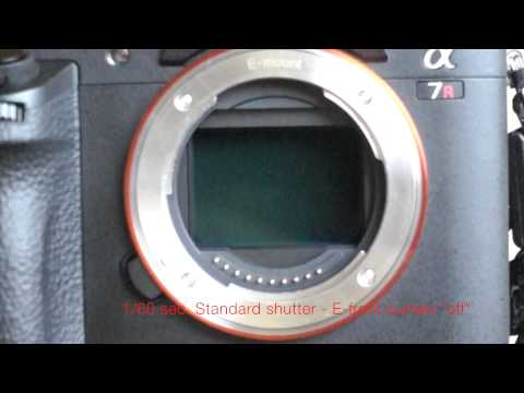 Sony A7R2 Shutter Modes Explained in Super Slow-Motion