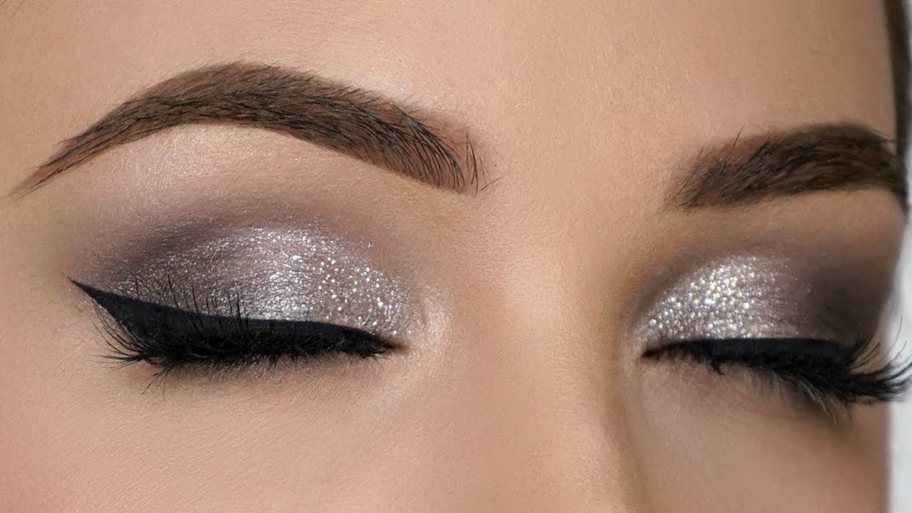 QUICK & EASY Silver Smokey Eye Makeup Tutorial - YouTube