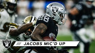 Josh Jacobs Mic'd Up vs. Saints: 'We Gonna Shock the World!' | Las Vegas Raiders