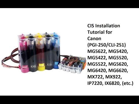Canon Pixma MG6620 Ink Cartridge Installation And Setup