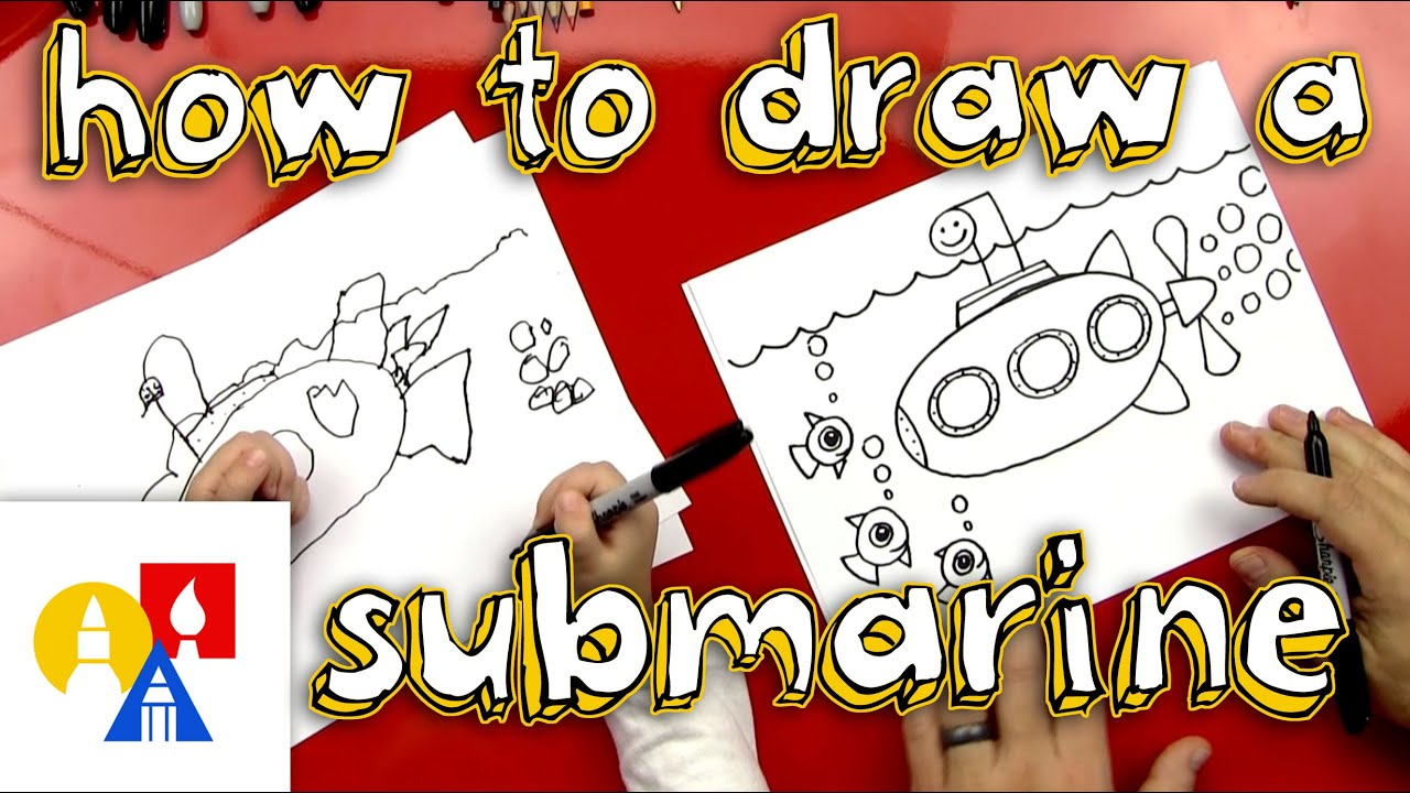 How To Draw A Submarine (For Young Artists) - YouTube