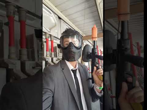 Paintball In Business Suit #6: Paintball weapons check