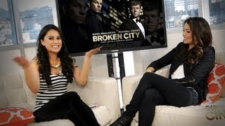 Natalie Martinez Habla sobre Mark Wahlberg en Broken City!