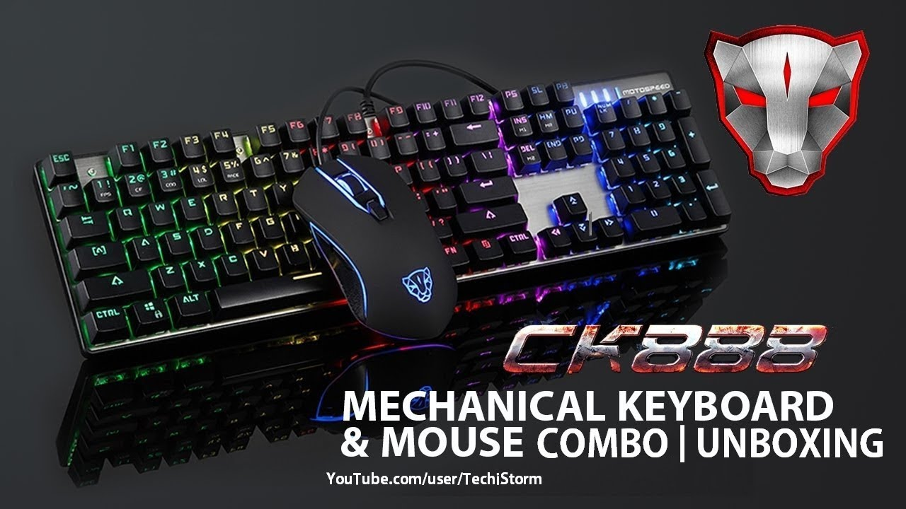 44769f8f377 Motospeed ck888 mechanical keyboard + mouse combo   Unboxing ...