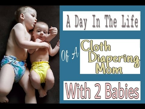 A Day of Cloth Diapering 2 Babies | & Laundry