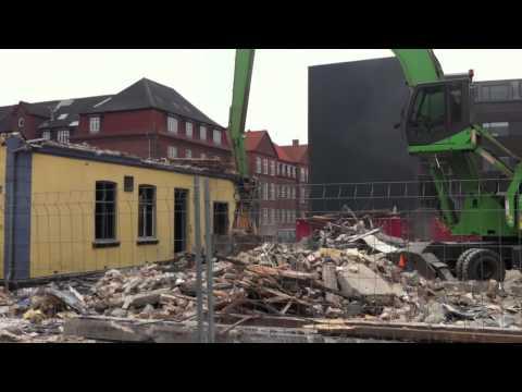 Nedrivning i Esbjerg Centrum