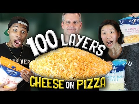 How To Make 100 LAYERS CHEESE PIZZA