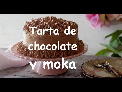 Tarta de chocolate y moka,
