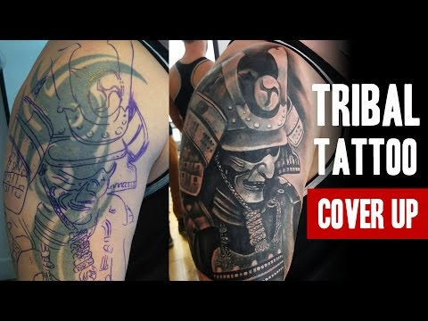 Tribal Tattoo Cover-up | One Session | Salvation Tattoo Studio