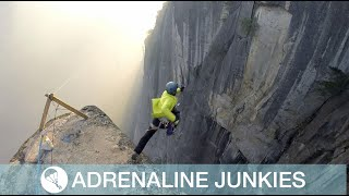 Daredevil Jumps Off Cliff With Only a Rope