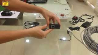 how to extend usb data signal using a usb extender over cat 5e or cat 6