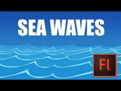 Flash Animation Tutorial - Animate Sea in Flash - YouTube - ocean waves animations