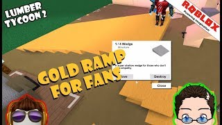 Roblox - Lumber Tycoon 2 - Gold Ramp For Fans