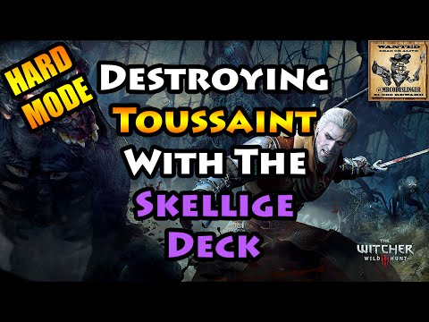 Witcher 3 - Skellige Gwent Deck vs. Toussaint  - Let's Play - 4K Ultra HD