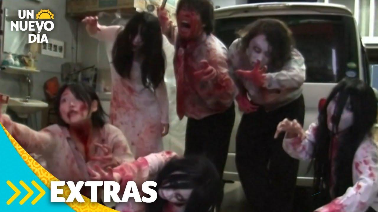 'Horror en Auto': la nueva casa de terror en Japón | Un Nuevo Día | Telemundo
