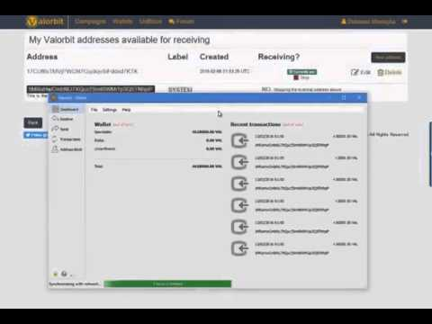 شرح التسجيل في العملة الرقمية الجديدة Valorbit منافسة ل Bitcoin   بونص 1000 VAL عند تسجيل