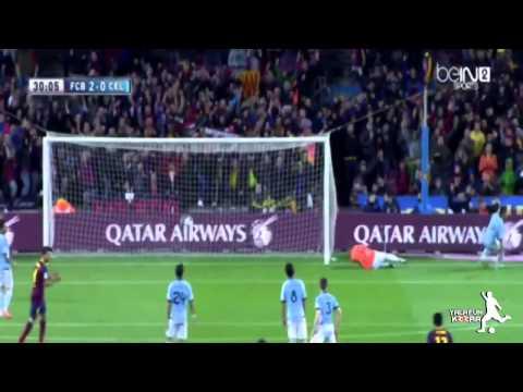 Barcelona 3-0 Celta Vigo -- All Goals and Highlights HD - 26/03/2014