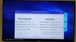 Down Payment Assistance Loan (CalHFA) vs FHA Standard Loan