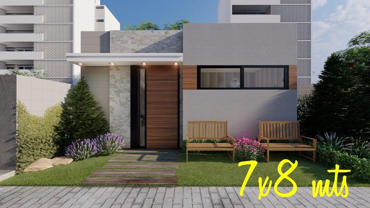 Casa de 7x8 metros | 7x8 House Plans