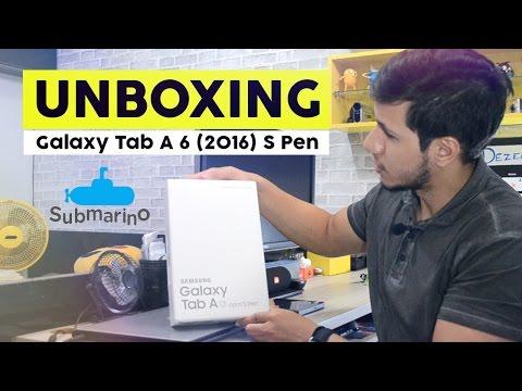 Unboxing Galaxy Tab A 2016 - Melhor que tab S2 [Pt-Br]