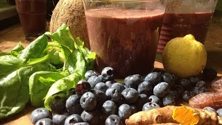 Turmeric Coconut Blueberry Smoothie ~ Gourmet Recipe