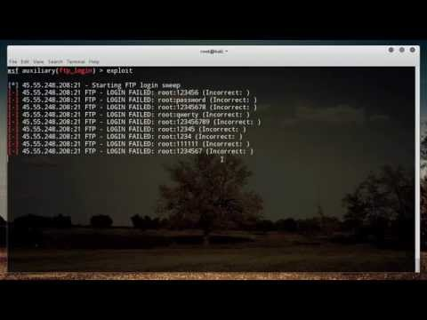Metasploit for Network Security Tutorial - 4 - FTP Login
