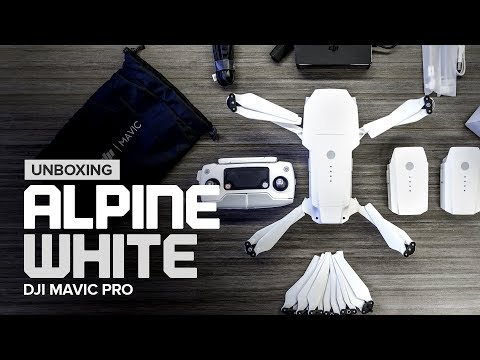 Unboxing the DJI Mavic Pro Alpine White Combo