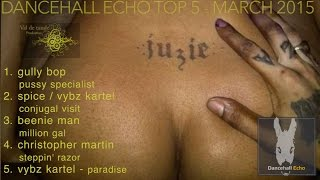 Top 5 Dancehall Echo Mix March 2015 Gully Bop Spice Vybz Kartel Beenie Man Christopher martin