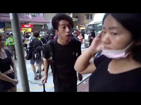 Hong Kong street: Innocent residents bullied and beaten 香港街頭:無辜居民慘遭毆打