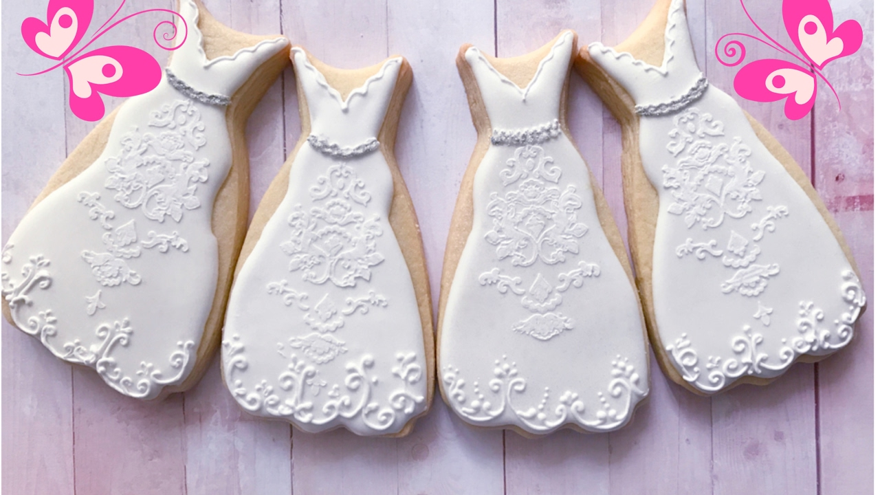 How To Decorate Wedding Cookies. 🌹🌹🌹