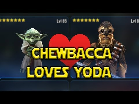 Chewbacca LOVES Hermit Yoda! - Star Wars: Galaxy Of Heroes - SWGOH