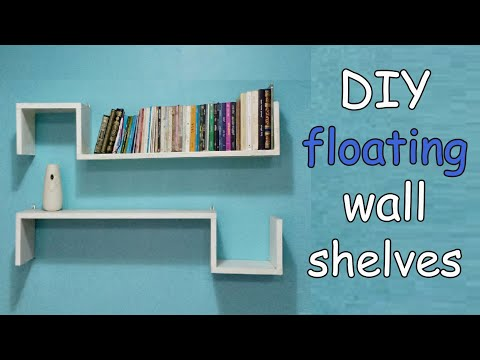 DIY floating wall shelves - DIY woodwork ideas for home interior decoration